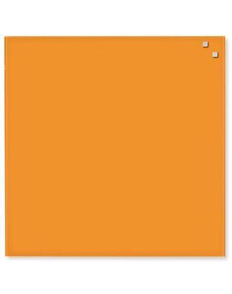 Доска стеклянная маркерная магнитная, 45х45 см, цвет: оранжевый, NAGA10730 Дания
