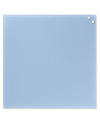 Доска стеклянная маркерная магнитная, 45х45 см, цвет: легкий голубой, NAGA10761