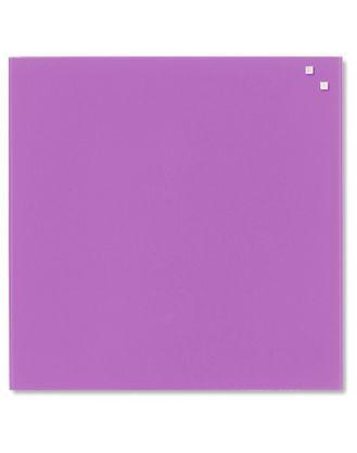 Доска стеклянная магнитно-маркерная NAGA®, 45х45 см, цвет: светло-фиолетовый