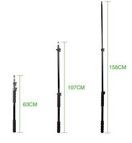 Телескопический держатель - «удочка» 158 см для микрофона, света и прочего