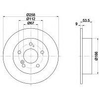 Тормозные диски Mercedes C-Class W202 (задние, невент., Mintex)