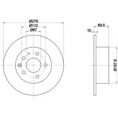 Тормозные диски Mercedes W123 (задние,Optimal)
