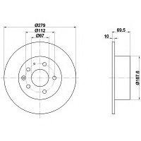 Тормозные диски Mercedes W123 (задние,Optimal), фото 1