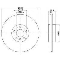 Тормозные диски Mercedes ML500 ML63 AMG W164 (задние, Febi, D330)