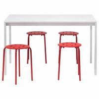 Столы IKEA IKEA МЕЛЬТОРП / МАРИУС Стол и 4 табурета