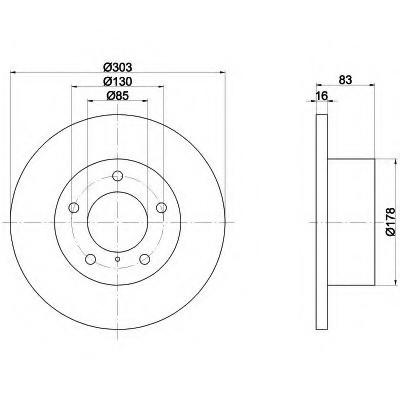 Тормозные диски G-Class W460, W461, W463 (передние, Optimal, невент.)