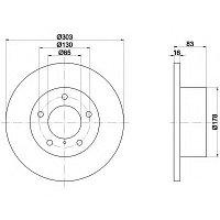Тормозные диски G-Class W460, W461, W463 (передние, Optimal, невент.), фото 1