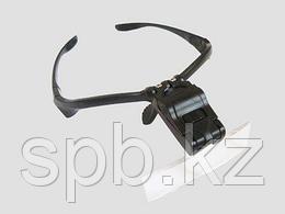 Бинокулярная лупа-очки c подсветкой