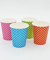 "Цветные бумажные стаканы ""Горох"", четыре цвета"