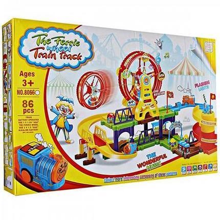 Железная дорога - конструктор с чудо-колесом The Ferris Whell Train Track (122 детали), фото 2
