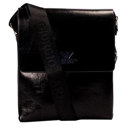 Сумка-планшет на ремне мужская Giorgio Armani A6699 (Черный), фото 2