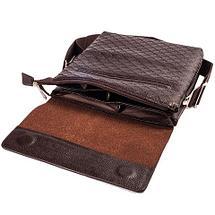 Сумка-планшет на ремне мужская Giorgio Armani A6699 (Коричневый с тиснением), фото 3
