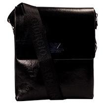 Сумка-планшет на ремне мужская Giorgio Armani A6699 (Коричневый с тиснением), фото 2