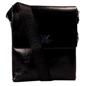 Сумка-планшет на ремне мужская Giorgio Armani A6699 (Черный с тиснением)
