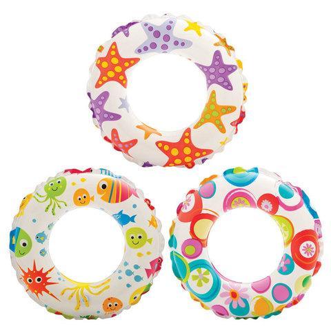 Круг надувной INTEX 59230 Lively (Разноцветные шары)