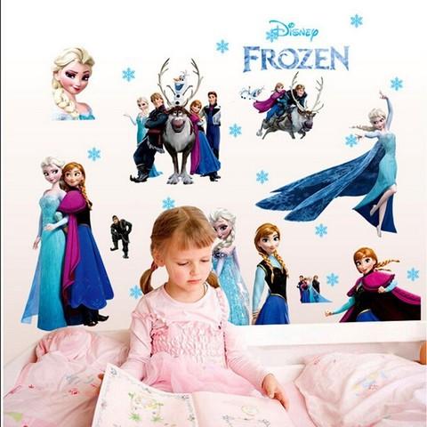 Наклейки 5D для украшения детской комнаты [для девочек] CCW-003 (Холодное сердце)