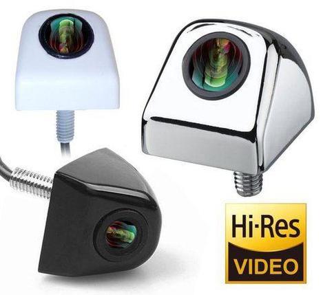 Видеокамера заднего обзора высокого разрешения универсальная E366 (Хром), фото 2