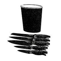 Набор металлокерамических ножей на подставке EVERRICH ER-0142 / ER-0119 (Черный), фото 3