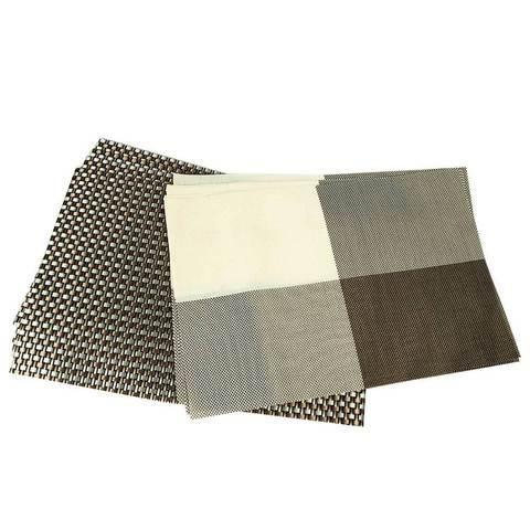 Комплект из 6-ти сервировочных ковриков на обеденный стол (В крупную клетку)