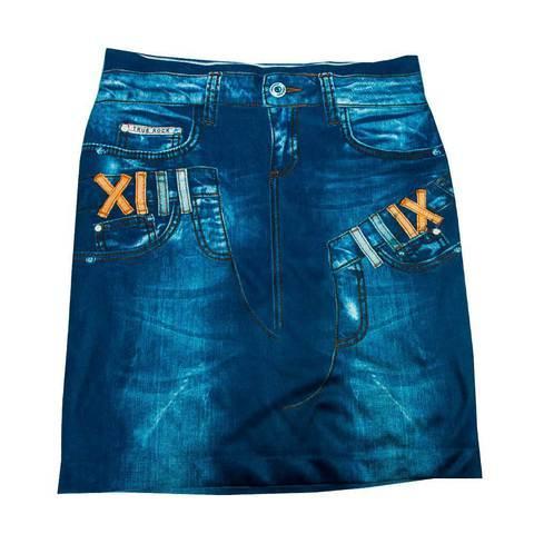 Юбка с утягивающим эффектом Trim 'N' Slim Skirt (S-M / Синий)