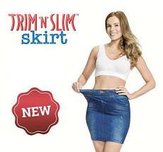 Юбка с утягивающим эффектом Trim 'N' Slim Skirt (S-M / Синий), фото 2