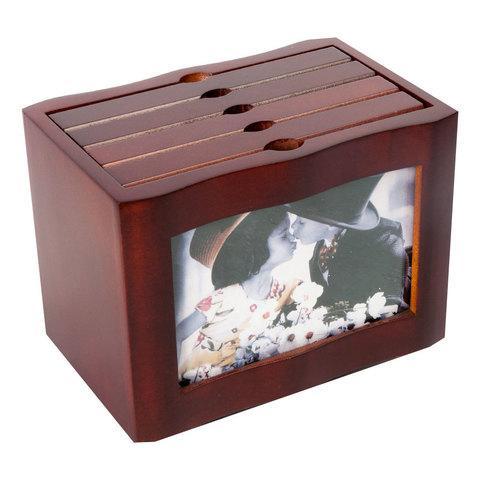 Набор фотоальбомов на 96/120 снимков в деревянном боксе (Вертикальная)