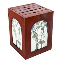 Набор фотоальбомов на 96/120 снимков в деревянном боксе (Вертикальная), фото 3