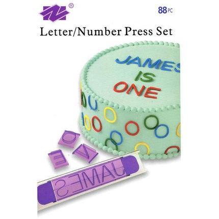 Набор пресс-форм для украшения тортов Wilton (Буквы и цифры), фото 2