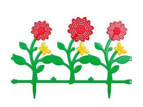 Ограждение-заборчик декоративное садовое Альтернатива (Тюльпаны), фото 2