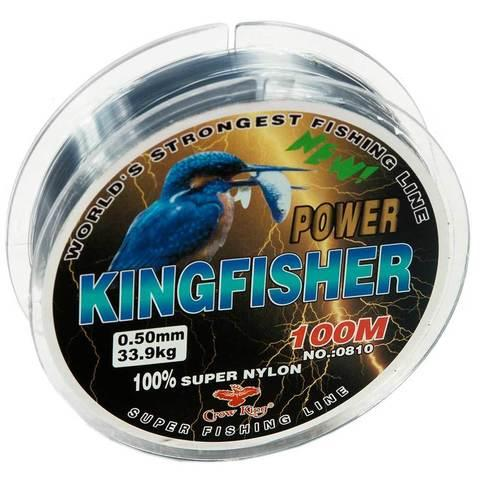 Леска рыболовная Crow King KINGFISHER 0810 [0.2- 0.5 мм, 100 м] (0.2 мм)