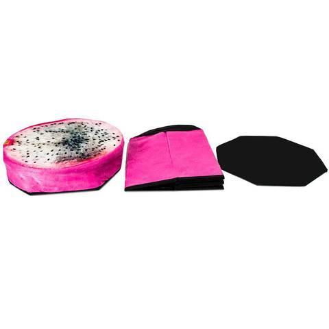 Пуфик складной с отделением для хранения (Розовый)