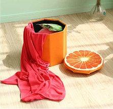 Пуфик складной с отделением для хранения (Розовый), фото 3