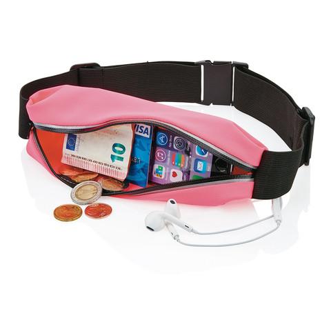 Сумка-ремень на пояс для занятий спортом WEILI (Розовый)