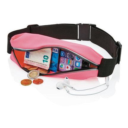 Сумка-ремень на пояс для занятий спортом WEILI (Розовый), фото 2