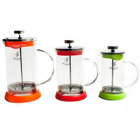 Заварник френч-пресс Ar.matile [350-1000мл] для чая и кофе (Салатовый / 350 мл)