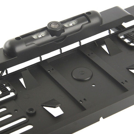Рамка под номер автомобиля с камерой заднего вида (Черный), фото 2