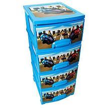 Комод пластиковый 4-х секционный детский РОСПЛАСТ (для мальчика), фото 3