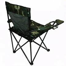 Кресло складное туристическое с подстаканником в чехле (Черный), фото 3