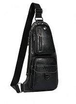 Мужская сумка-рюкзак через плечо Jeep (Черный), фото 3