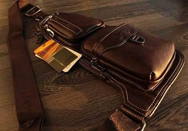 Мужская сумка-рюкзак через плечо Jeep (Коричневый)