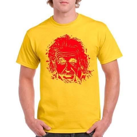 Футболка с изображением Альберта Эйнштейна (L / Желтый)