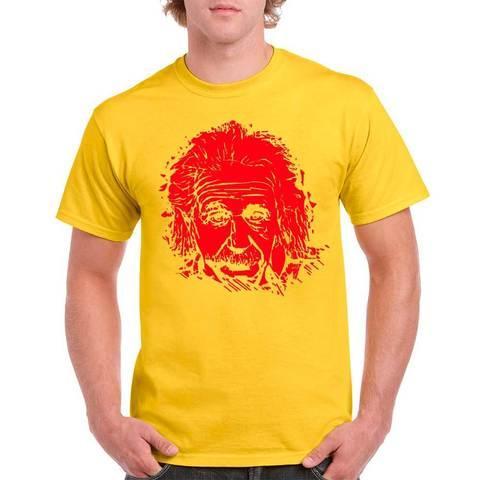 Футболка с изображением Альберта Эйнштейна (XL / Желтый)
