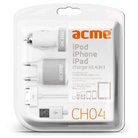 Зарядное устройство универсальное для мобильной электроники ACME CH04 (USB-Lightning)
