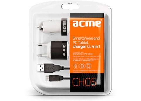 Зарядное устройство универсальное для мобильной электроники ACME CH04 (USB-microUSB)