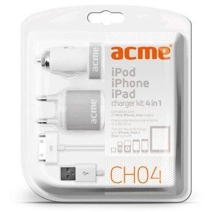 Зарядное устройство универсальное для мобильной электроники ACME CH04 (USB-microUSB), фото 2