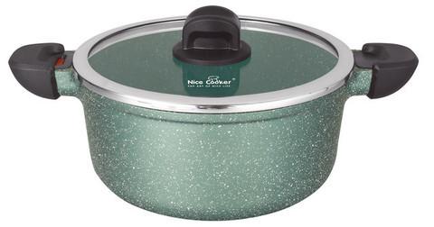 Кастрюля с бакелитовыми ручками Nice Cooker GOOSE Series [20; 24; 28 см] (24 см / Зеленый)
