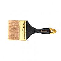 """Кисть плоская """"Профи"""" 4"""", натуральная щетина, деревянная ручка MTX, фото 1"""