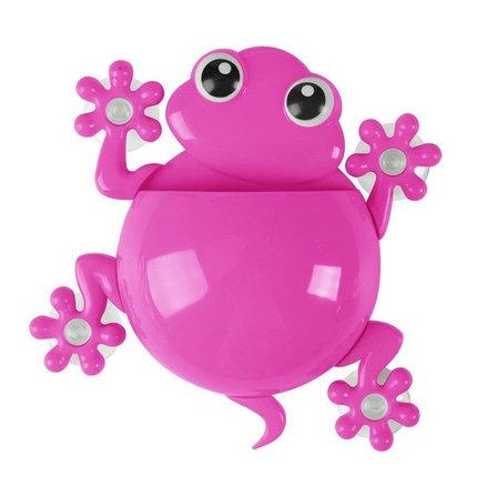 Держатель для зубных щёток и пасты «Весёлые зверушки» (Розовый / Лягушка), фото 2