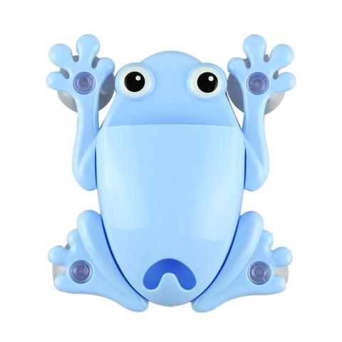 Держатель для зубных щёток и пасты «Весёлые зверушки» (Голубой / Лягушка)