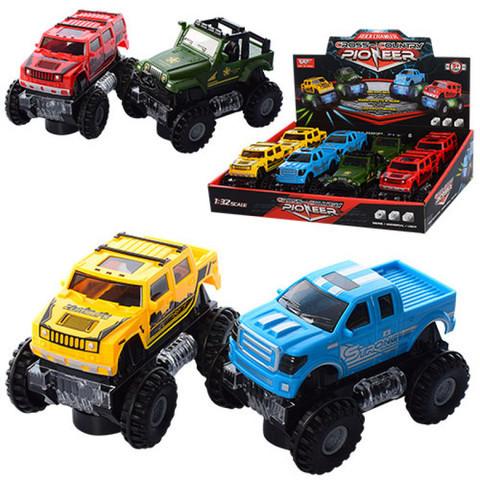 Машинка игрушечная самоходная с подсветкой «Джип» (Красный)